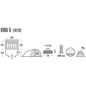 High Peak Kira 5 Telt, grå